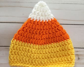 Baby Candy Corn Hat Candy Corn Hat Newborn Crochet Hat Candy Corn Costume Hat Newborn Halloween Costume Fall baby Hat Baby Shower Gift & Candy corn costume   Etsy