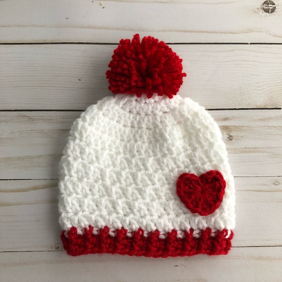 Baby Valentines Day Hat Baby red heart hat Newborn heart  98fea7fa8751