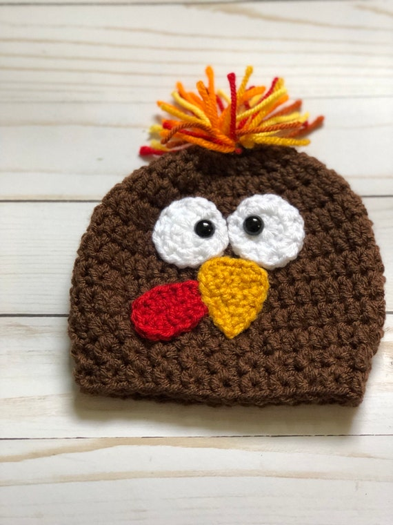 Turkey hat Turkey Trot Hat Crochet Turkey Hat Thanksgiving  646ed1b4b19