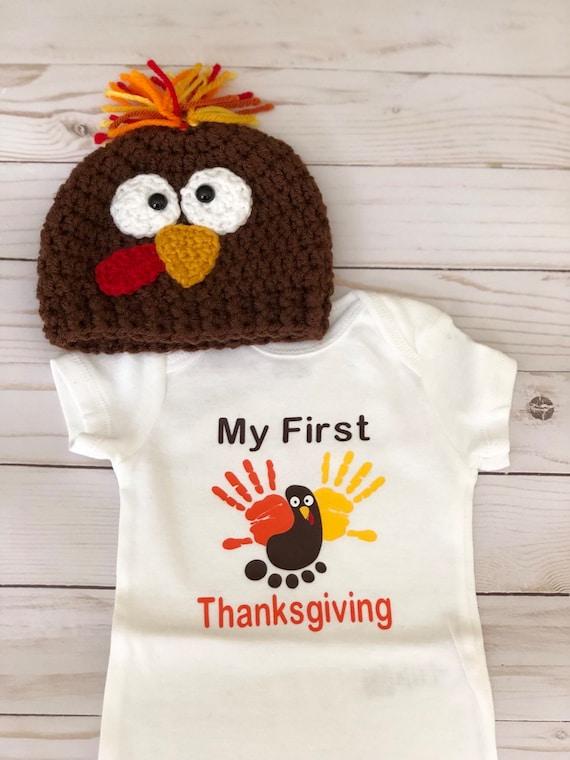 77c9dd8c9d7 First Thanksgiving Turkey hat Turkey Trot Hat Thanksgiving