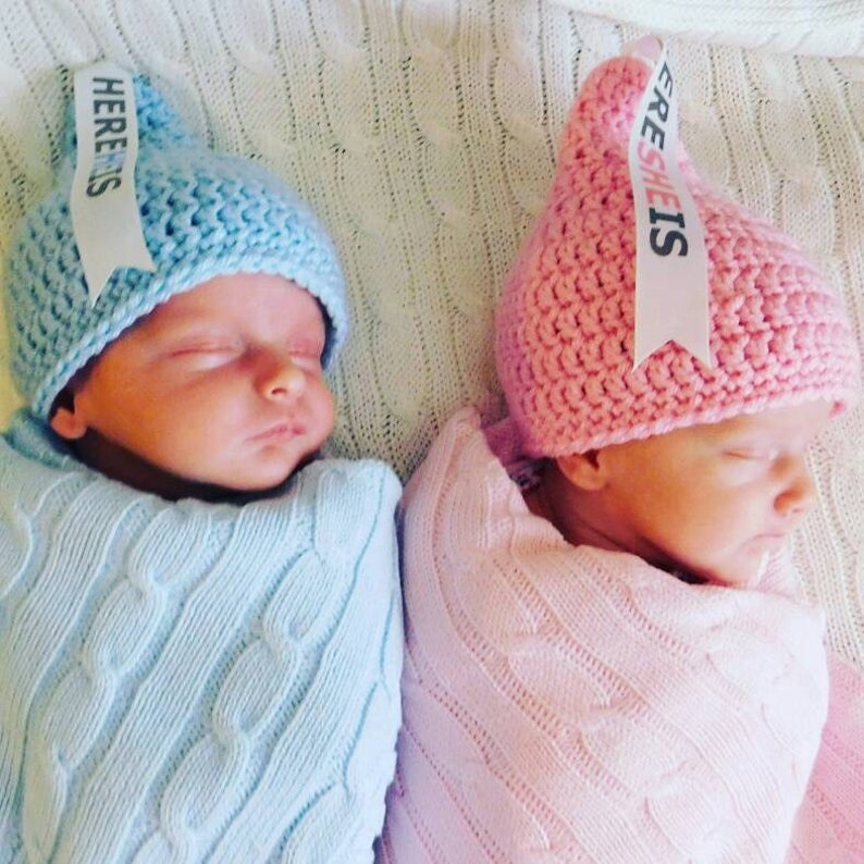 cb8236c7cf4 Newborn Twin Hats Twin Newborn Hats Twin Hats Twin Baby