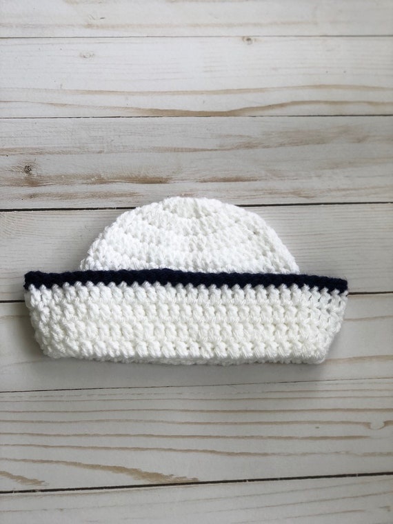 Newborn Sailor Set crochet sailor hat nautical baby photo   Etsy