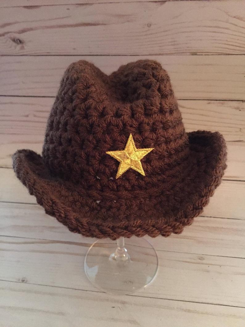 Newborn Cowboy Hat Crochet Cowboy Hat Cowgirl Hat Cowboy Etsy