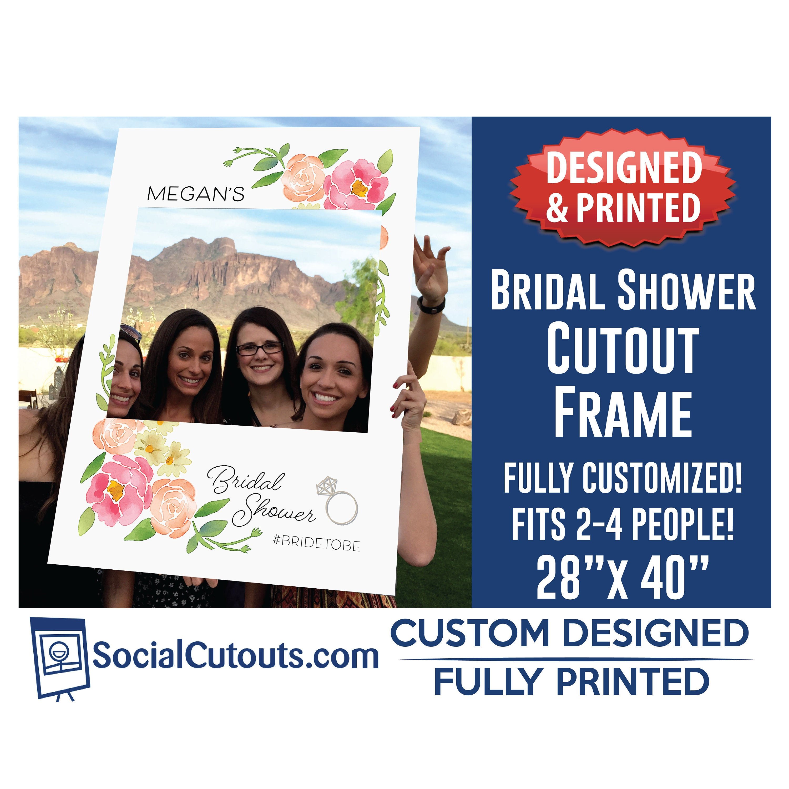 Bridal Shower Selfie Frame Fully Customized and Printed Photo   Etsy