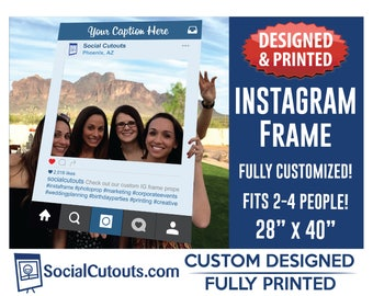 Instagram Frame Printed and Shipped to you. Fully Customized Cutout Photo Booth Prop Instagram Frames for Graduation Party