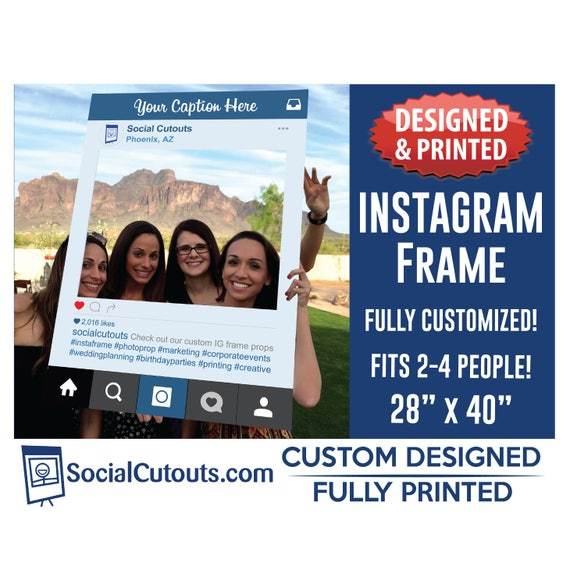Instagram Frame Printed And Shipped To You Perfect Photo Prop Etsy