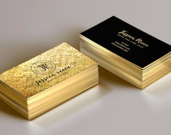 gold foil business card event planner business card boutique business card wedding planner business card photographer business card - Gold Foil Business Cards
