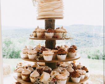 Wedding Cupcakes Towers.Wood Cupcake Stand Etsy