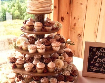 Wood Cupcake Stand Etsy