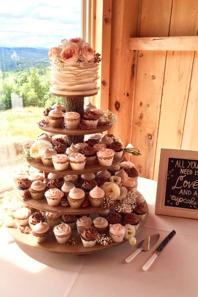 Rustic Cupcake Stand 5 Tier Tower Holder 120 Cupcakes 250 image 0