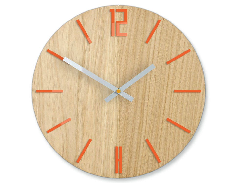 Wall Clock Wood Clock Large Wall Clock Gift Wall Decor Unique Wall