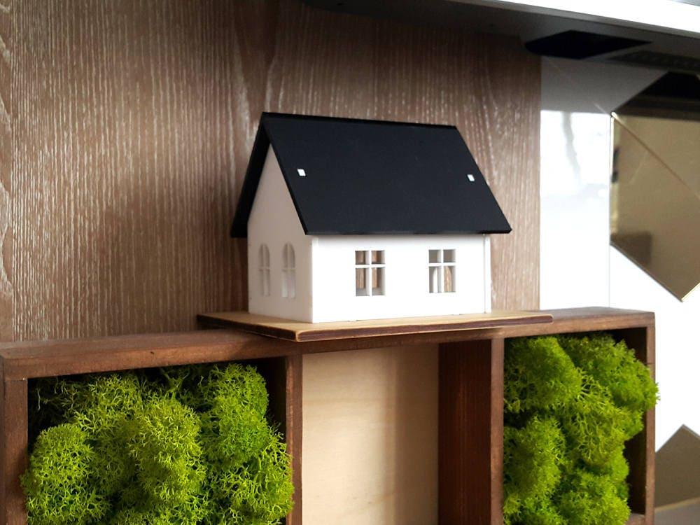 Miniature House Black And White House Architecture Decor