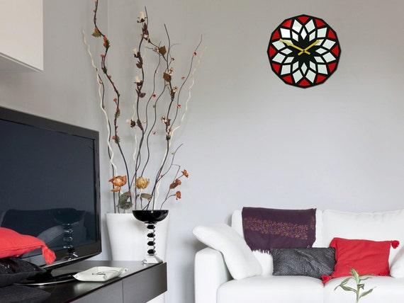 Géométrique LOTUS horloge murale horloge moderne mur décoration ...