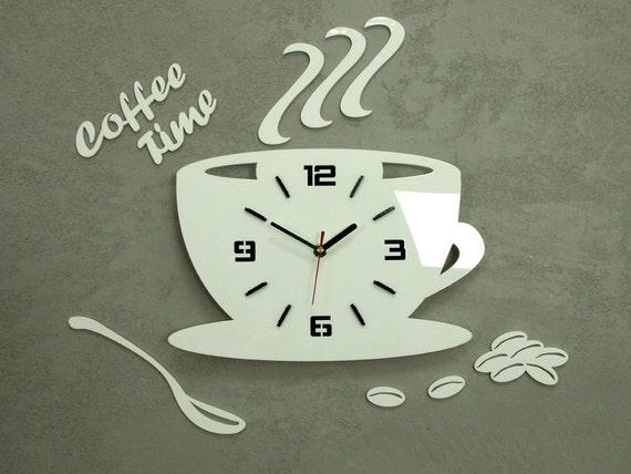Orologio per orologio da parete cucina Coffe tempo moderno | Etsy