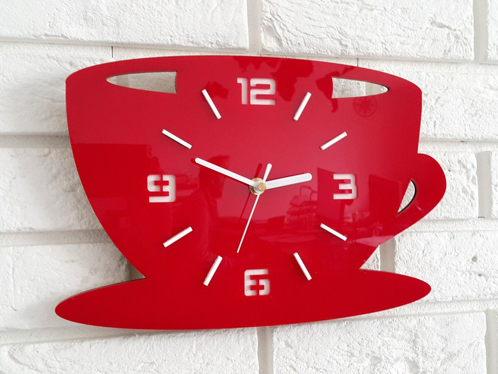 large wall clock, modern clock, wall clock, kitchen clock ...