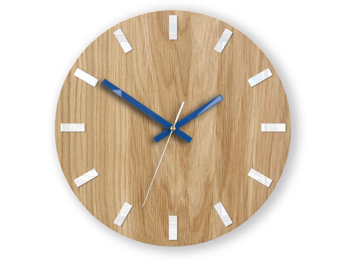 Wall Clock, Geometric Wall Clock, Modern Clock, Wooden Wall Clock ...