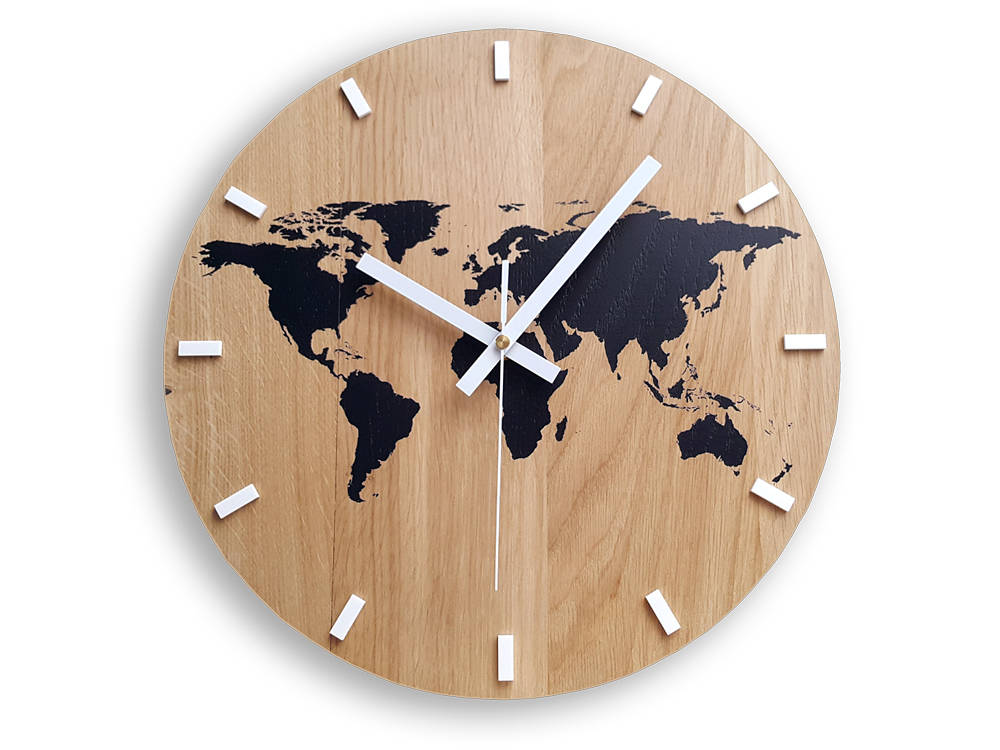 Wall clock wood clock large wall clock gift wall decor unique wall wall clock wood clock large wall clock gift wall decor unique wall oak clocks world map gumiabroncs Images