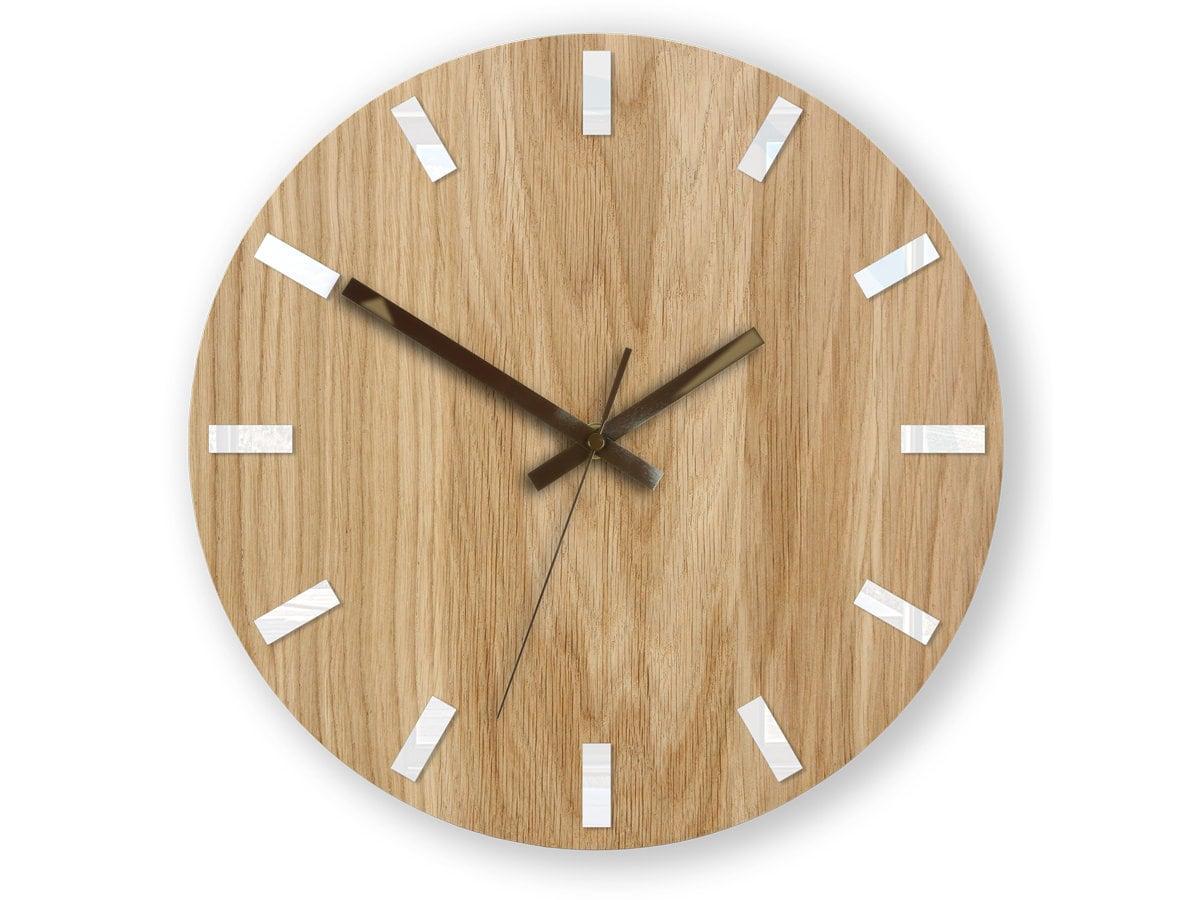 Wall Clock, Geometric Wall Clock, Modern Clock, Wooden