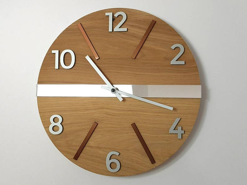Wall Clock Wood Clock Large Wall Clock Gift Wall Decor Unique Etsy