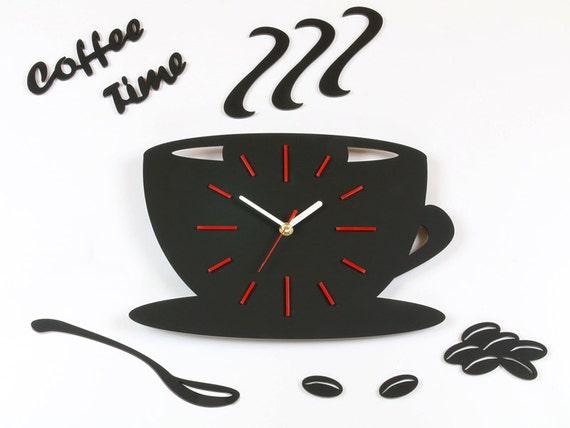 Reloj Para Cocina | Reloj De Pared Para Cocina Cafe Tiempo Moderno Reloj Pared Etsy