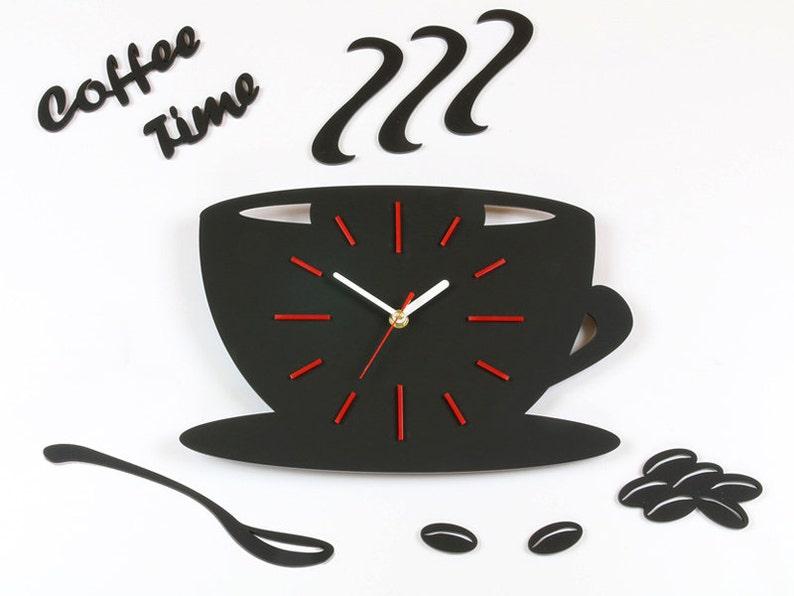 Orologio da parete per cucina Coffe tempo moderno orologio | Etsy