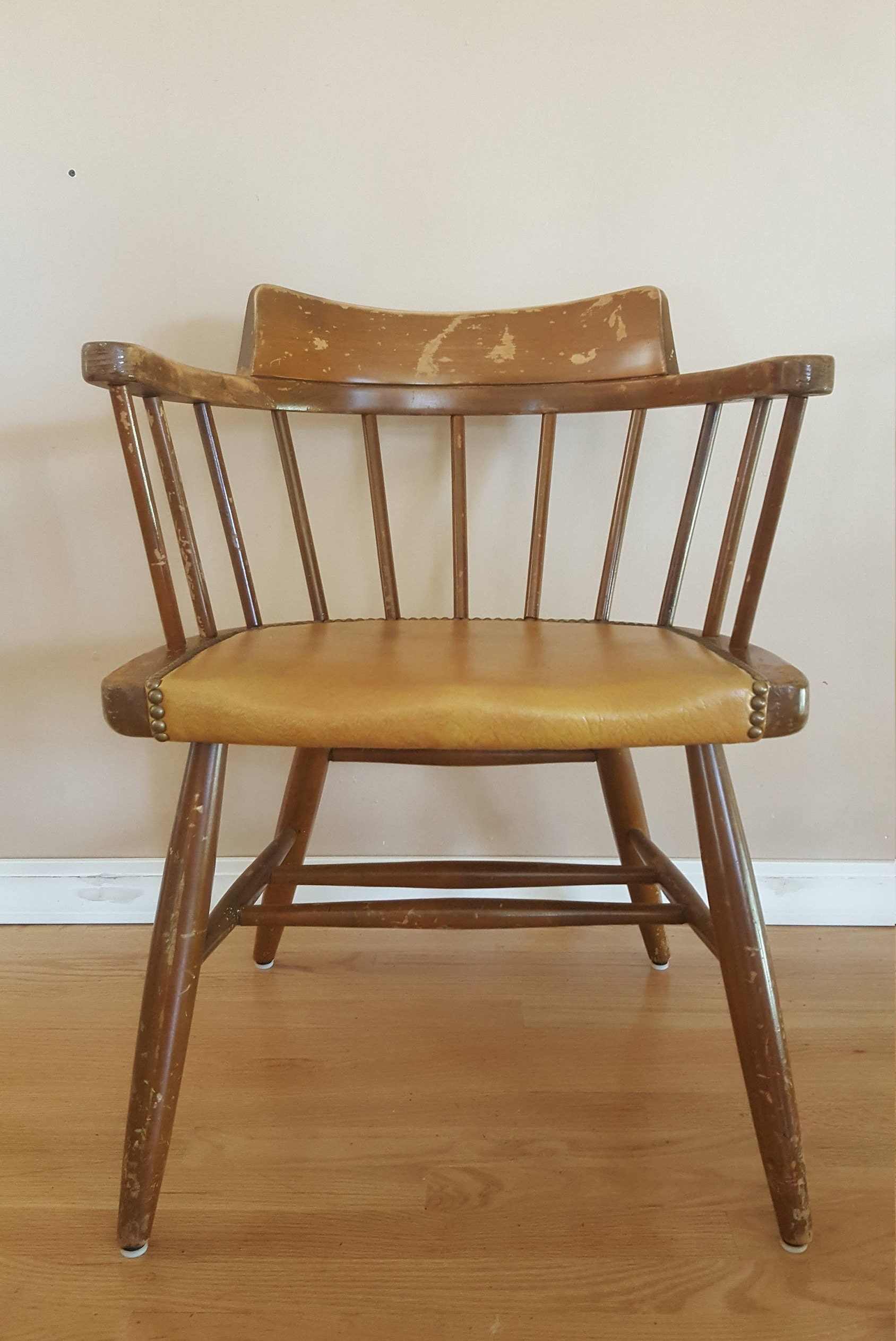 Antique Wooden Chairs >> Vintage Wood Chair Antique Wooden Chair Vintage Decor Etsy