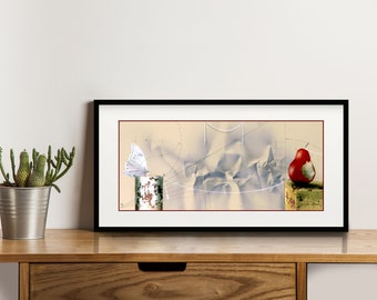 How I miss You, Mixed Media Painting Giclée