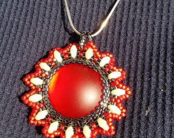 Luna sun/ flower pendant