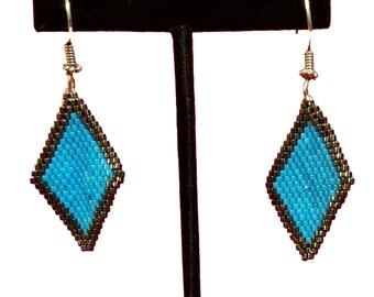 Diamond-shaped earrings