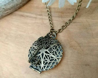 Essential oil diffuser necklace, diffuser jewelry, diffuser locket, key necklace, essential oil jewelry