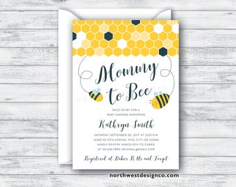 Yellow mommy to bee baby shower invitation gray and gold etsy yellow mommy to bee baby shower invitation gray and gold honeycomb baby shower invite 5x7 digital or printed filmwisefo
