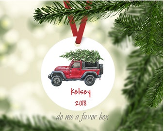 Jeep Christmas Ornament.Jeep Ornament Etsy