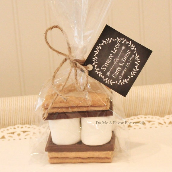 S Mores Favor Kits 24 Smore Love S Mores Wedding Etsy