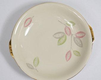 Porcelaine de ZEH SCHERZER Bavière Allemagne avec plaque de bordure or