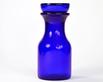 Container Belgium blue glass bottle
