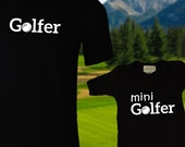 Matching Golf Shirts / Golfer / Mini Golfer / Dad & Baby Matching Shirts / T-shirt and jumper for Dad and Baby / Father's Day / Newborn