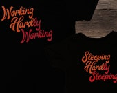 Working Hard or Hardly Working / Sleeping Hard Hardly Sleeping / Cute and funny matching shirts / Father and son matching tees / Newborn