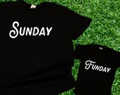 Sunday Funday / Sunday Football Matching Shirts/ Dad and baby tshirts / Couples Shirts / Sports Shirts / Game Shirts