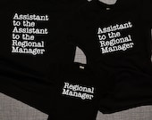 The Office Matching Family Set / Assistant to the Regional Manager / Regional Manager /   Dad Mom & Baby Matching Shirts