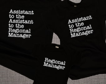 The Office Matching Family Shirts, Assistant to the Regional Manager, Regional Manager, Dad Mom & Baby Matching Shirts, Fathers Day Gift