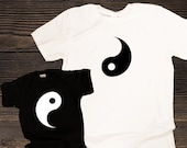 Yin Yang Matching Shirts. Mix and match shirts for matching couples, mom,dad and baby or siblings, gift for babies, friends or new parents