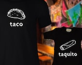 Dad and Baby Matching Shirts / Matching Taco and Taquito shirts / Mexican Food T-shirt and jumper for Dad and Baby / Newborn outfit