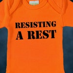 Resisting A Rest Baby Jumper - Funny and Cute Prison Baby Romper Jail Baby Joke Shirt for Newborn baby