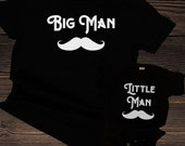 Big Man Little Man Matching Shirts for Dad and Baby or Toddler, Family Matching Shirts for Father and Son, perfect for Father's Day