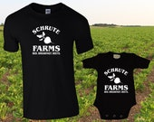 Schrute Farms / The Office Dad and Baby Matching shirts / Funny Family Matching Outfit / Father's Day / Newborn / Mother's Day