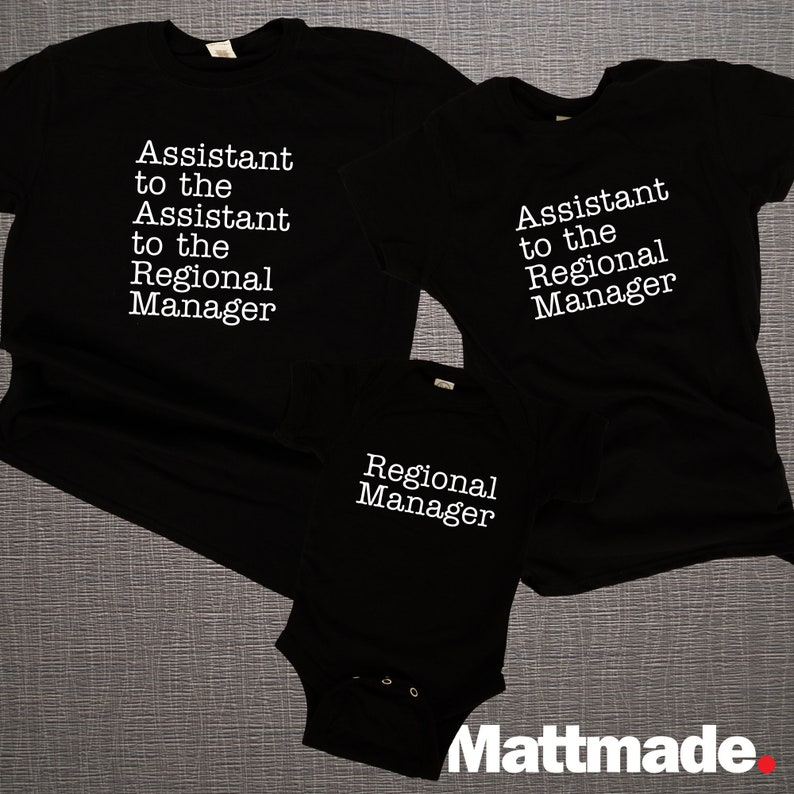 The Office Matching Family Shirts Assistant to the Regional image 0