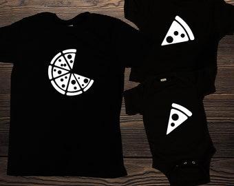 Pizza Family Matching Shirts, Pizza Matching Shirts, T-shirt and jumper for Dad and Baby Pizza and Pizza Slice, Christmas gift