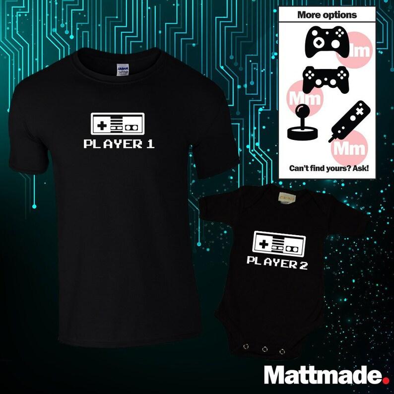 Player 1 Player 2 Video Game Matching Shirts / Matching Dad image 0