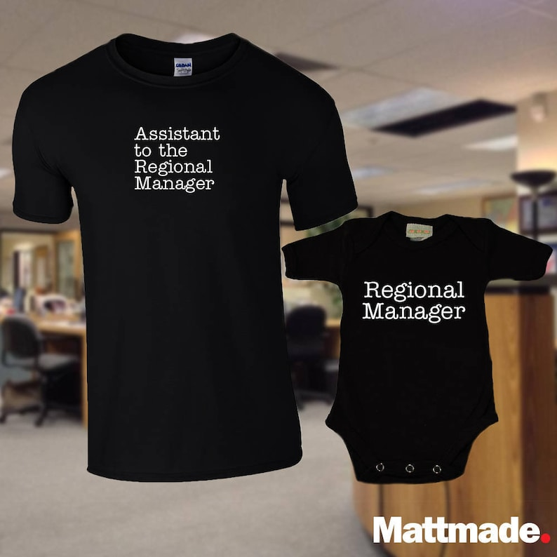 Dad & Baby Matching Shirts Regional Manager Assistant to the image 0