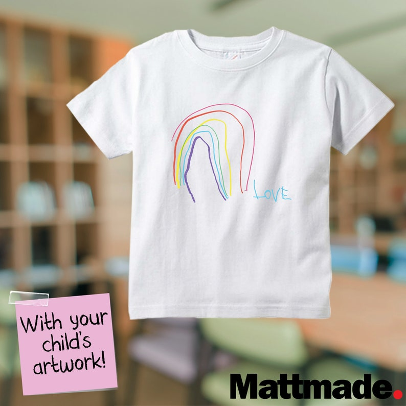 Your child's artwork on a t shirt or pillow toddler image 0